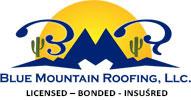 blue mountain roofing LLC logo